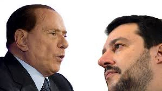 Berlusconi e Salvini, da internet